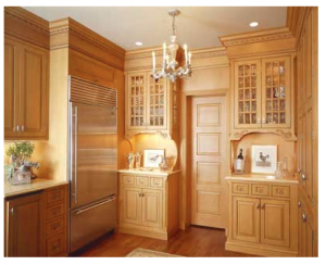 Gold Kitchen Interior
