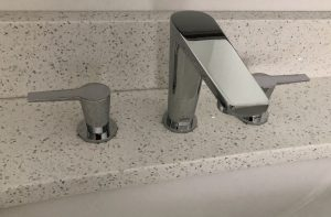 new faucet in bathroom remodel