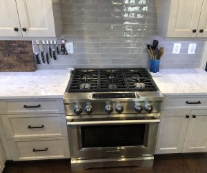 new 5 burner oven install as part of a maryland kitchen remodel