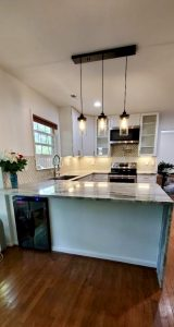 l shaped countertop installation for kitchen make over
