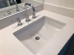 new sink in a bathroom remodel