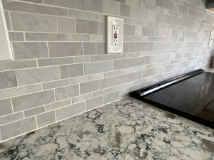mew backsplash as part of a kitchen upgrade for maryland homeowners