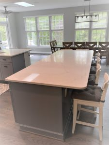 new countertop island for a kitchen remodel in maryland