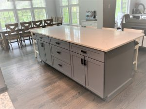updated kitchen in maryland with a new island